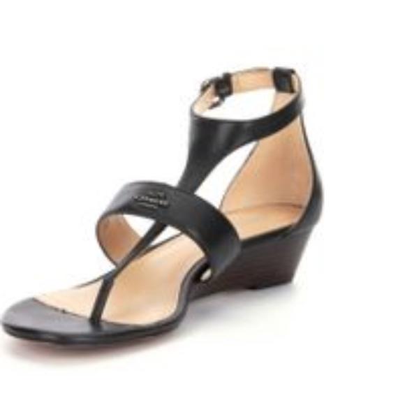 a5ec591ff Coach Shoes - NWOB Coach Black Leather Vienna Sandals